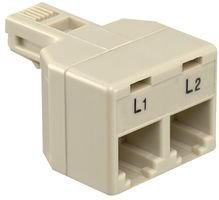 5 pieces GC ELECTRONICS 30-9655 IN LINE ADAPTER 1 X JACK-2 X JACK