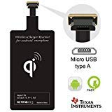 apter Qi Charger Receiver Compatible LG G4 G3 G2 Stylo 2 3 V10 K7 Q6 Plus X Moto G6 Play G5 G5S E4 Samsung Galaxy S3 J7 Pro A7 A5 A3 Huawei Mate Micro USB Card Android Charge ()