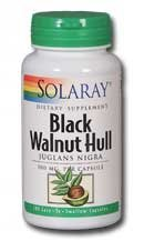 Solaray - Black Walnut Hull, 500 mg, 100 capsules [Health and Beauty] by Solaray (Capsules 500 100 Mg Hull)