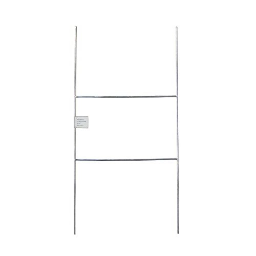 MTB H Frame Wire Stake 20x10 (Pkg of 50) 9ga Metal Heavy Duty -Yard Sign Stake for Advertising Board,Realestate,Political Campaign or Commercial Activities,Yard Stakes for Signs,Garden Lawn Stakes