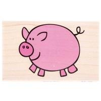 Peggy Pig Rubber StampNew by: CC