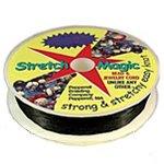 Black Stretch Magic 0.8mm, 25 meter Spool