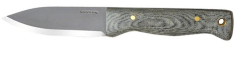 Condor Tool and Knife Bushlore 4.375-Inch Drop Point Blade, Micarta Handle with Leather Sheath (Plain), Outdoor Stuffs