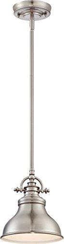 Quoizel ER1508BN Emery Vintage Mini Pendant Lighting, 1-Light, 100 Watts, Brushed Nickel (9