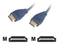 CABLES TO GO : 6 ft Velocity HDMI/HDMI Cable Blue