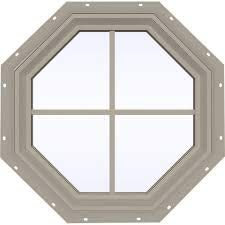 18'' OCTAGON WINDOW (WHITE J-LAP)