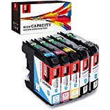 JetSir LC203 Ink Replacement Brother LC 203XL Ink Cartridges 5-Pack, Use on Brother MFC-J480DW MFC-J485DW MFC-J680DW MFC-J460DW MFC-J880DW MFC-J4620DW MFC-J5720DW MFC-J5520DW MFC-J4420DW Printer