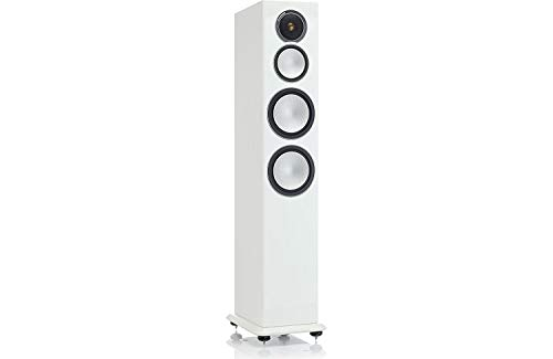 - Monitor Audio Silver 10 Three-Way Tower Speaker Each (High Gloss White Lacquer)