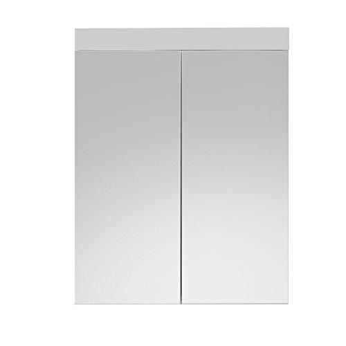 Trendteam Muebles Madera Blanco 60 X 77 X 17 Cm, sin iluminacion