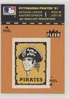 (Pittsburgh Pirates Logo/Stat Line (Logo Stat Tab Puzzle on Back) (Baseball Card) 1982 Fleer - Team Stickers Inserts #PIPI.1)