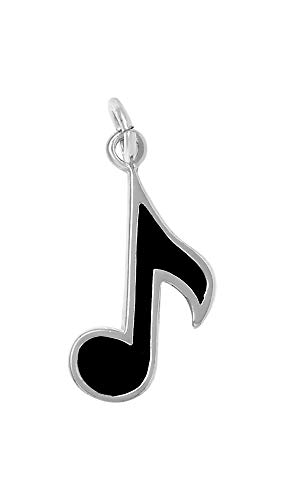 Raposa Elegance Sterling Silver Eighth Musical Note Charm (approximately 17.5 mm x 11.5 mm) ()