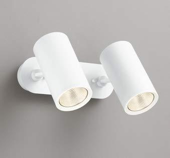 ODELIC LEDスポットライト 直付け用(フレンジタイプ) LED一体型 白熱灯100W×2灯相当 専用調光器対応 電球色 ワイド配光 100V OS256438   B07MVTYLYB