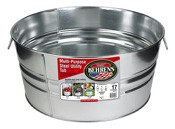 Behrens High Grade Steel 3GS 17 Gal Silver Galvanized Steel Round Tub by Behrens High Grade Steel