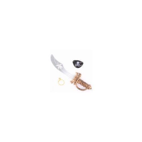 Accessoire De Pirate De Jeu Pour Les Enfants - bandeau sur l'œil, boucle d'oreille et de l'épée 37cm