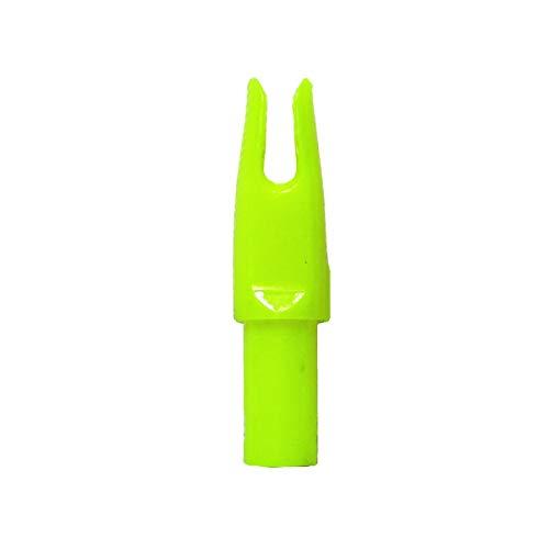 "Letszhu Archery Arrows Nocks 6.20mm/.244"" Inside Diameter Plastic Insert Tail for Hunting Target Shooting (Neon Yellow)"