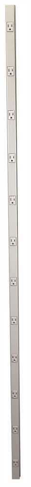 Wiremold G20GB606 Plug Mold Multi Outlet Strip Prewired Steel Gray, 1'' x 1'' x 1''