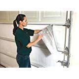 MWS US Energy White Pre-Cut Inserts 1 Car Garage Door Insulation Kit Reflective Foam