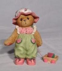 - Cherished Teddies Tori Girl Bear in Watermelon Dress Figurine 676845