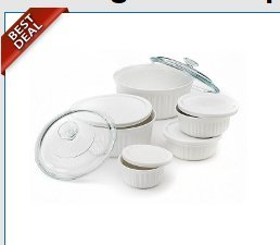 CorningWare 11-Piece French White Bakeware and Serveware Set
