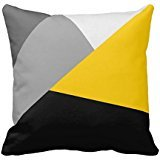 Simple Modern Gray Yellow And Black Geo Throw R39bd699219444b3bbcc8fe3c9cac7360 I5fqz 8byvr Pillow Case (Yellow And Black Pillows)