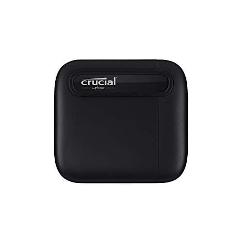 chollos oferta descuentos barato Crucial CT2000X6SSD9 X6 2 TB SSD portátil de hasta 540 MB s USB 3 2 Unidad de estado sólido externa USB C