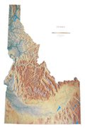 Idaho Topographic Wall Map by Raven Maps, Laminated Print