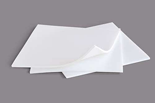 Food Grade Silicone Rubber Sheet 6x6-inch by 1/8 White [3-pack] Duro Shore A65 High Temperature Heavy Duty for Gaskets DIY Food Covers Lids Sealing Material Supports Microwave Oven Protection