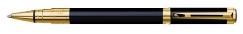 Waterman Perspective Black w/ Gold Rollerball Pen - 1750133 by Waterman