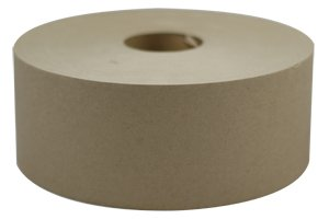 "Carton Sealing Tape - Kraft - Water Activated - Non-Reinforced Gum Paper Tape - 76mm x 183M; 3"" x 600' (10 Rolls/Case) - GT652-183TN"