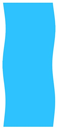 18x33 foot Oval Overlap Above Ground Swimming Pool Liner - Solid Blue - 20-Gauge by Gold Star