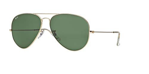 Ray-Ban RB3026 AVIATOR LARGE METAL II L2846 62M Arista/Green Crystal Sunglasses For Men For ()