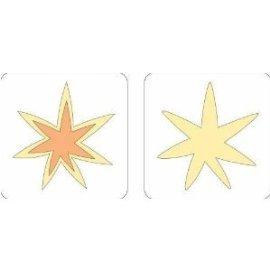 2 Step Cuttlebug Dies - Provo Craft Cuttlebug 2 Inch by 2 Inch Two, Step Dies 2/Package, Starburst