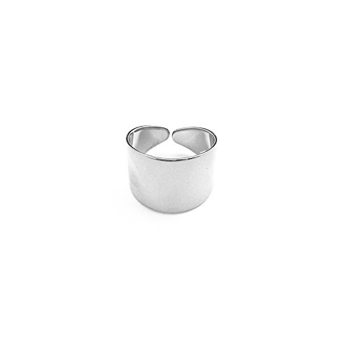 HONEYCAT Thick Wrap Open Band Ring | Minimalist, Delicate Jewelry (Silver)