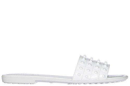 Tods Dames Schoenen Sandalen Muilezel Witte Het Baden