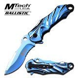Mtech Assisted Opening Rescue Tactical Pocket Folding Collection Knife Outdoor Survival Camping Hunting - Blue (BLUE)