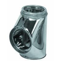 Selkirk Metalbestos 6T-IT Insulated Tee with Plug Stainless by Selkirk - Selkirk Tee
