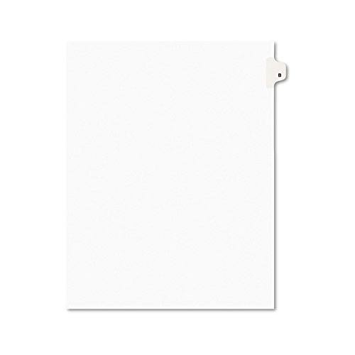 Avery Legal Dividers, Premium Individual Tab Titles, Letter Size, Side Tabs, B, Pack of 25 (01402) ()