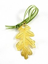 REAL LEAF Gold Oak Leaf Preserved Ornament - Ornament Gold Leaf