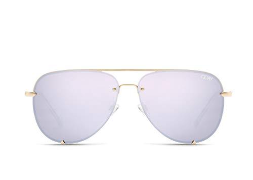 Quay Australia X Desi Perkins HIGH KEY RIMLESS Sunglasses in Gold Lilac, Womens, One ()