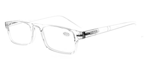 Eyekepper Quality Metal Spring Hinges Crystal Clear Vision Stylish Look Reading Glasses Clear - Glasses Clear Crystal Frames