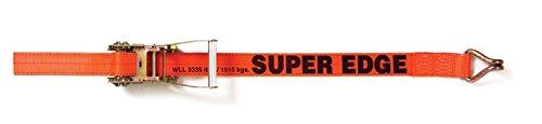 Multiprens 3826-40 Orange Super Edge Ratchet Strap 2 x40 with #618 J Hook-40ft
