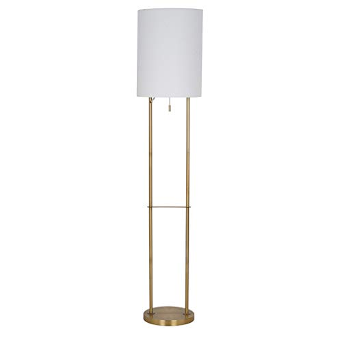 Rivet Modern Metal Floor Lamp with Bulb, 59