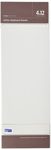 QUICKUTZ ADH-SHEETS-06We R Memory Keepers Adhesive-Backed White Chipboard, 18-Sheets, 4-Inch by 12-Inch