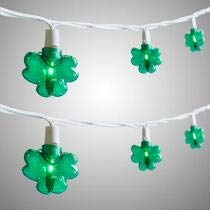 Nantucket Home St Patrick's Day 20 Count Green Shamrock String Lights Indoor and Outdoor Use