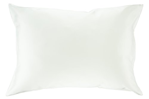 100% Silk Pillowcase for Hair Zippered Luxury 25 Momme Mulberry Silk Charmeuse Silk on Both Sides of Cover -Gift Wrapped- (Standard, White)