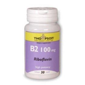 Thompson B-2, 100 mg, riboflavine, 30 Capsules (pack de 3)