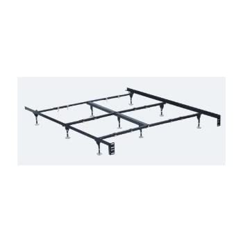 clamp style queen california king eastern king adjustable bed frame with 9 legs. Black Bedroom Furniture Sets. Home Design Ideas
