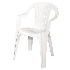 Adams Mfg 8234-48-3704 Low Back Chair, White (Pack of 2) - Stackable Resin
