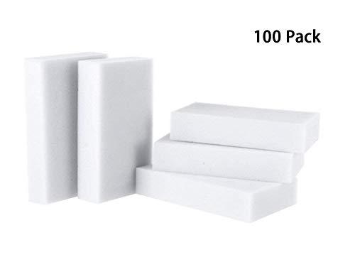 Melamine Foam - USMYTHA 100Pcs/lot Magic Eraser Melamine Cleaning Sponge Multi-Functional Foam Pads 10x6x2CM
