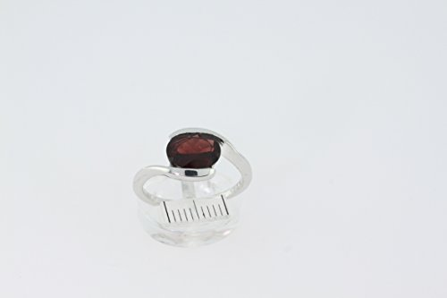 Bague en Grenat M 14 - Bijoux en argent rhodié et Grenat - Toutes tailles et diverses pierres - ARTIPOL